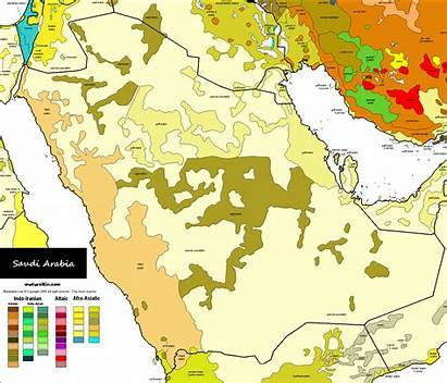 Saudi Arabia Arabic Spoken Dialect Map Languages