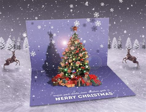 create  christmas pop  greeting card  photoshop