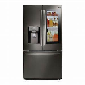 Lg Electronics 22 1 Cu  Ft  French Door Refrigerator In Black Stainless Steel  Counter Depth
