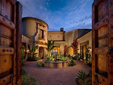 spanish style house plans central courtyard home building plans