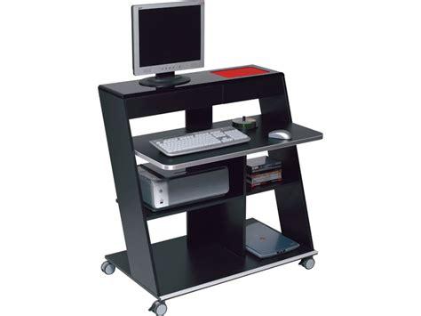 mobilier de bureau informatique meuble informatique idesk coloris laqué noir tous les