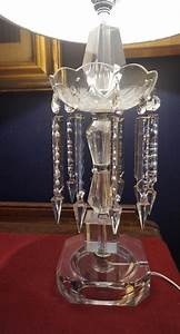 4u2c, Pair, Vintage, Crystal, Table, Lamps, With, Spear, Prisms, Gloucester, Ottawa