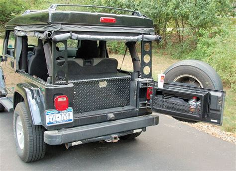jeep tailgate storage 68 best jeep storage solutions images on pinterest jeeps