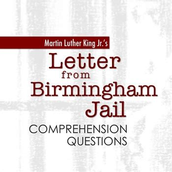 letters from a birmingham jail quot letter from birmingham quot comprehension questions by 23321   original 2271741 1