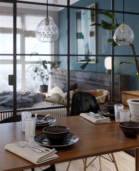 black framed glass walls separate  bedroom   kiev