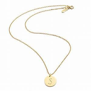 gold single initial disc necklace as seen on made in With single letter necklace