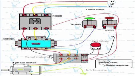 3 phase dol starter wiring diagram urdu hindi youtube