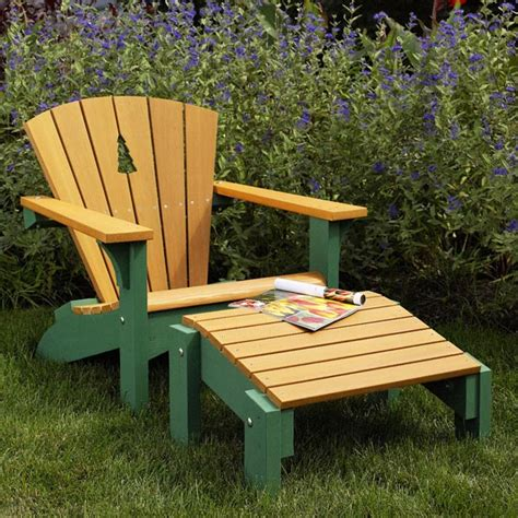 Adirondack Chair Ottoman Plans by Adirondack Chair Footstool Woodworking Plan From Wood
