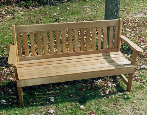 Benches : Red Cedar English Garden Bench