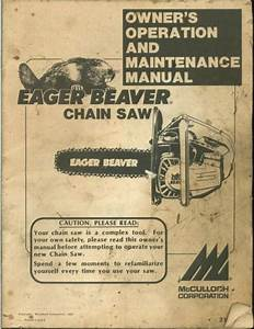 Mcculloch Eager Beaver Chain Saw Manual