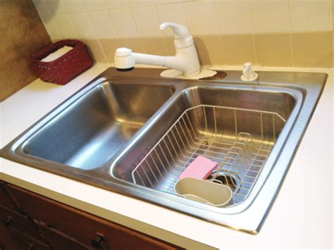 White Kitchen Sink With Stainless Steel Faucet by Kitchen Updates Rather Square