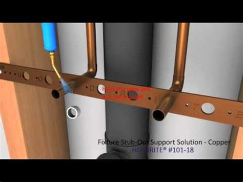 how to put in a kitchen sink fixture stub out support solution copper 9534