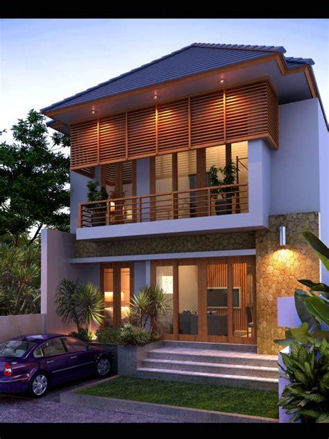 contoh desain rumah villa bali terbaru renovasi rumahnet