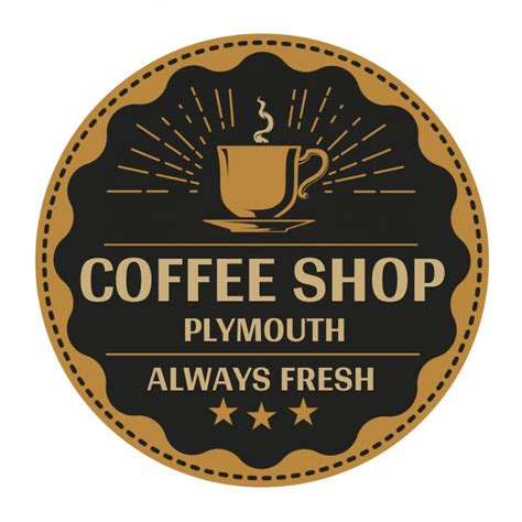 The tag line should be impressive. Coffee Shop Logo Template | PosterMyWall