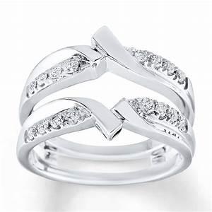 kay diamond enhancer ring 1 3 ct tw round cut 10k white gold With kay jewelers wedding ring enhancers