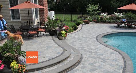 unilock dealer benson co in rockford landscaping patios