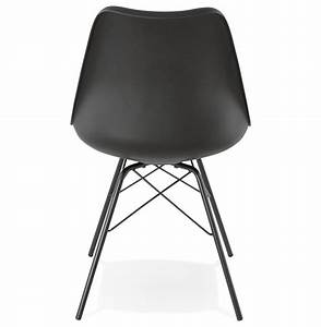 Chaise Style Industriel : chaise design byblos noire style industriel ~ Teatrodelosmanantiales.com Idées de Décoration