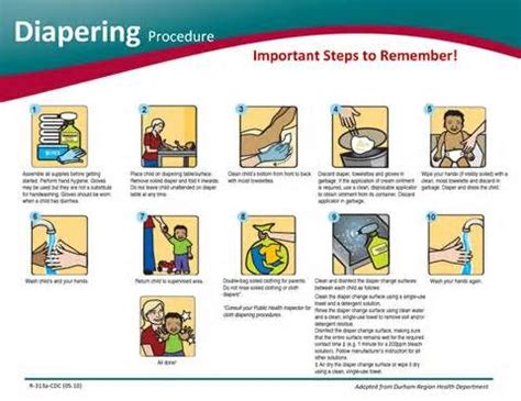 diapering procedure  infant  toddlers