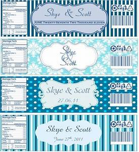 water bottle labels now with templates wedding blue With mineral water label template