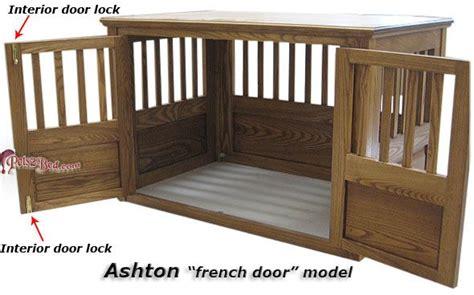 ashton french door wood dog crates decorative pet crates