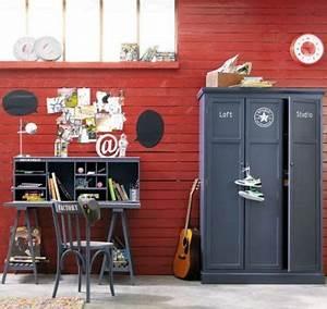 Bureau Industriel Maison Du Monde : bureau chambre gar on gris campus maison du monde ~ Teatrodelosmanantiales.com Idées de Décoration
