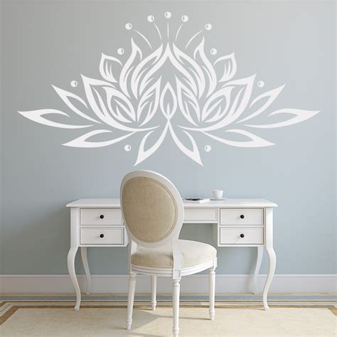 lotus flower floral wall sticker