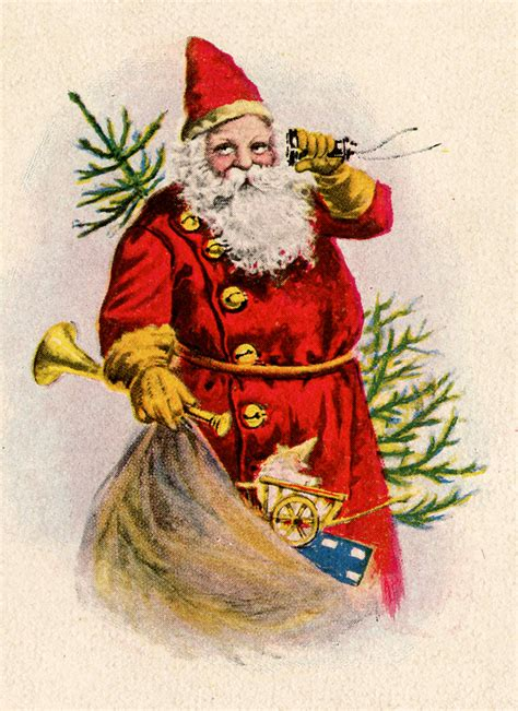 vintage clip santa with toys the graphics