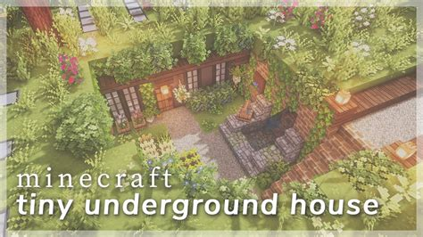 minecraft tiny underground house build timelapse cit resource packs youtube