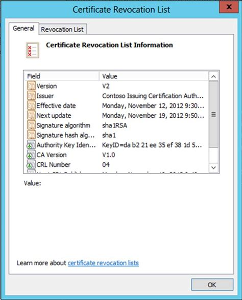 certificate revocation list certificates templates