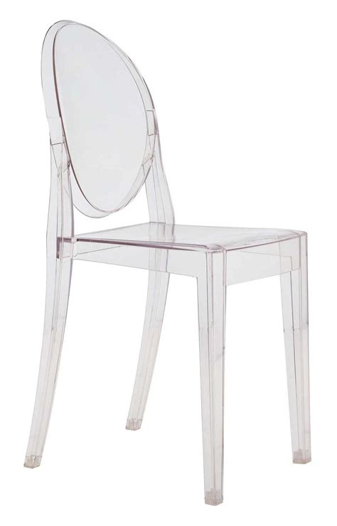 starck chaise chaise empilable ghost transparente