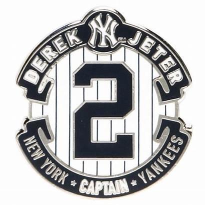 Jeter Yankees Derek Retirement York Logos Baseball