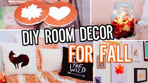 diy room decor for fall make your room cozy no sew pillow tumblr decorations more youtube