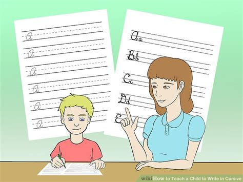 how to teach a child to write in cursive 5 steps with 562 | aid3053305 v4 728px Teach a Child to Write in Cursive Step 2