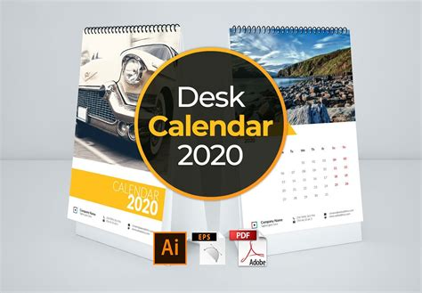 calendar template desk stationery templates creative market