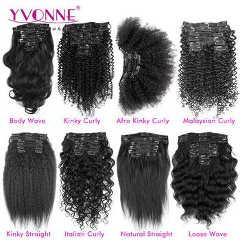 types curly weave hair extensions clip