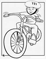 Coloring Bike Riding Boy Helmet Pages Bicycle Ride Cartoon Drawing Cycling Dirt Clipart Colouring Cliparts Spring Fall Encourage Learn Library sketch template