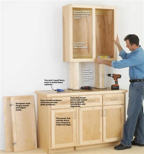 how to make stock cabinets look custom make cabinets the easy way wood magazine