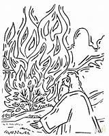 Bush Burning Coloring Moses Pages Shrub Printable Bible Supercoloring Template Plant Drawing Sheets Sunday Munchkins Getcolorings Craft Colouring Crafts Coloringpages101 sketch template