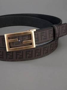 Fendi Monogram Belt in Brown for Men | Lyst