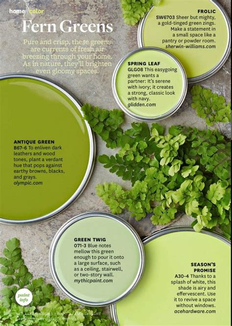 paint palette fern greens pantone s color of the year