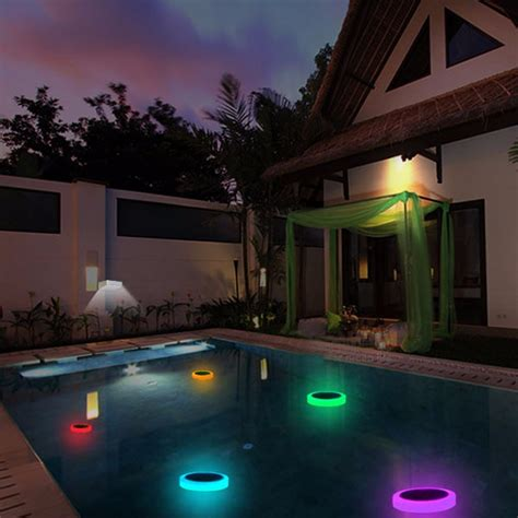 solar power rgb underwater led garden pond swimming pool