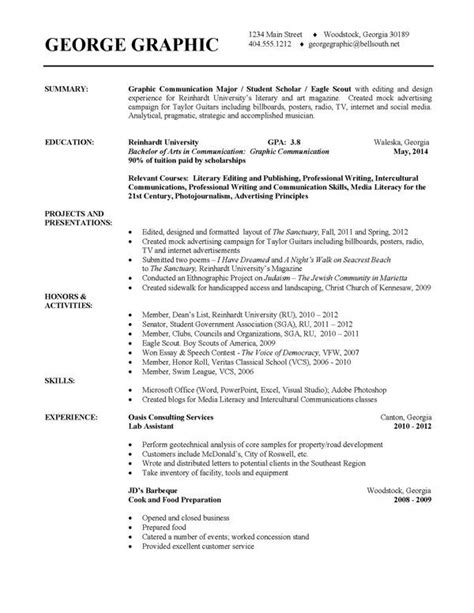 Exles Of College Resumes 12 best launchgrad resumes images on resume