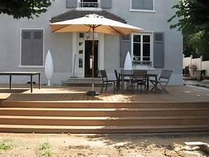 terrasse bois avec une marche idees sur les parcs et With idee couleur escalier bois 10 pose de terrasses bois et composite
