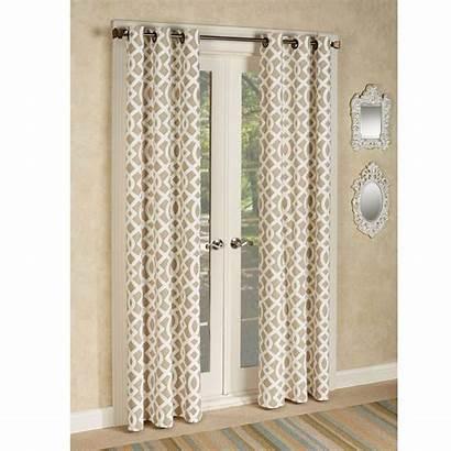 Trellis Grommet Curtain Curtains Pair