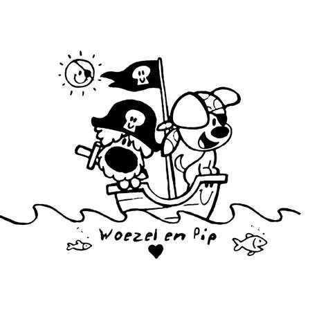 Woezel Pip Kleurplaat by Leuk Voor Woezel En Pip Spelen Piraat