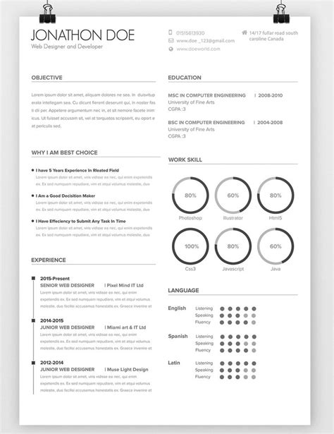 Usable Resume Templates by Usable Resume Templates Luxury Design Adobe Illustrator