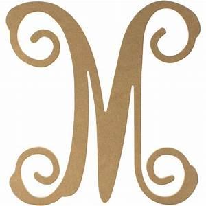 "12"" Wood Letter Vine Monogram: M [AB2208] - CraftOutlet.com"