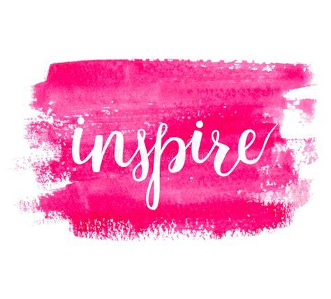 Inspire. Brush Hand Lettering. Stock Vector - Illustration ...