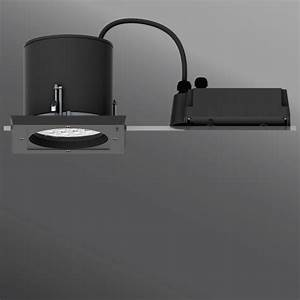 Ceiling luminaires robust square frame recessed