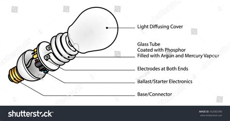 Exploded Diagram Cfl Compact Fluorescent Lamp